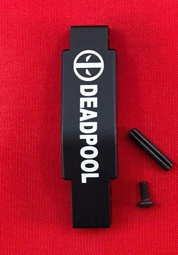 .223/5.56 Engraved Winter Trigger Guard - Deadpool