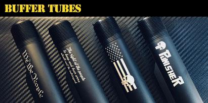 Engraved AR-15 Buffer Tubes