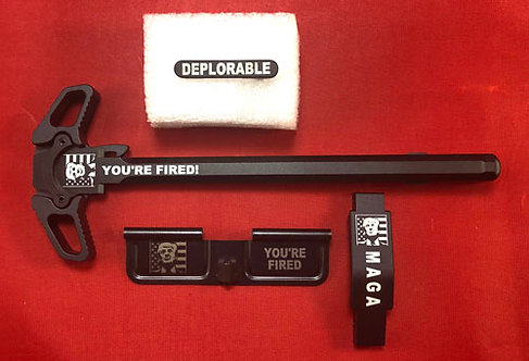 AR15 Engraved Ambidextrous Handle Kit - Trump You're Fired!
