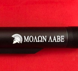 Engraved .223/5.56 Mil-Spec 6 Position Buffer Tube - Molon Labe