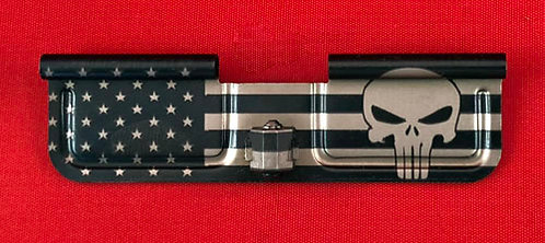 Laser Engraved Ejection Port - Big Flag with Punisher