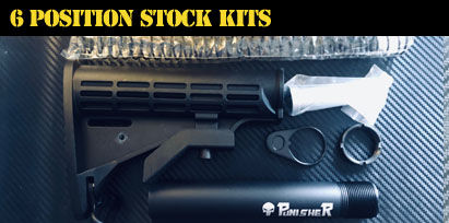 Engraved AR-15 6 Position Stock Kits