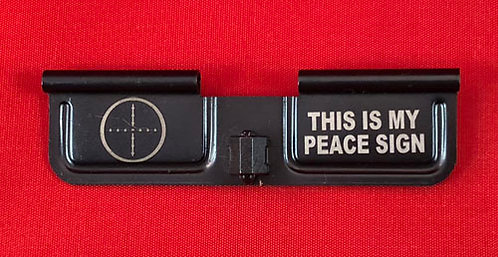 Laser Engraved Ejection Port - Peace Sign