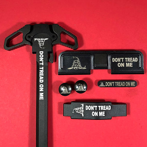AR15 Engraved Ambidextrous Handle Set - Don't Tread On Me
