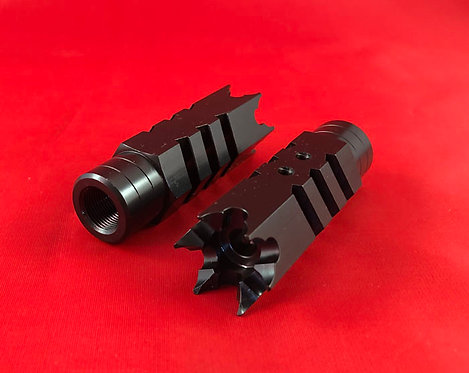 .223/5.56/.22LR Shark Muzzle Brake 1/2x28 Pitch