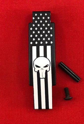 .223/5.56 Engraved Winter Trigger Guard - Punisher Flag