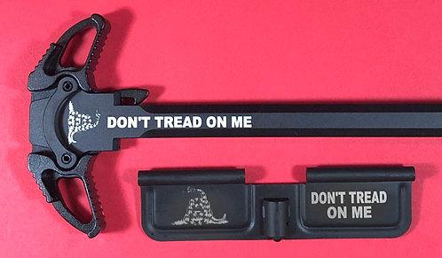AR-10 Engraved Ambi Handle/Door Bundle - Don't Tread On Me