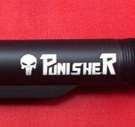 Engraved .223/5.56 Mil-Spec 6 Position Buffer Tube - Punisher Logo