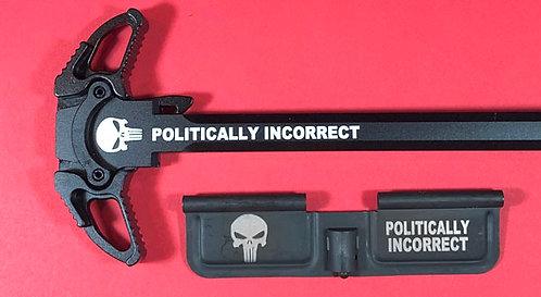 AR-10 Engraved Ambi Handle/Door Bundle - Politically Incorrect