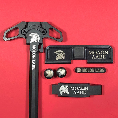 copy of AR15 Engraved Ambidextrous Handle Set - Molon Labe