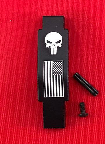 .223/5.56 Engraved Winter Trigger Guard - Punisher / U.S. Flag