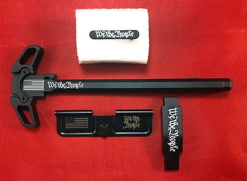 AR15 Engraved Ambidextrous Handle Kit - We The People