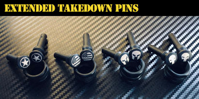 Engraved AR-15 Extended Takedown Pins