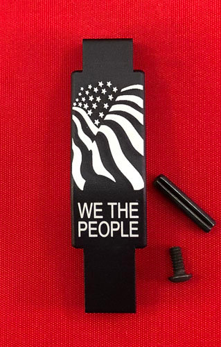 .223/5.56 Engraved Winter Trigger Guard - Flag / We The People