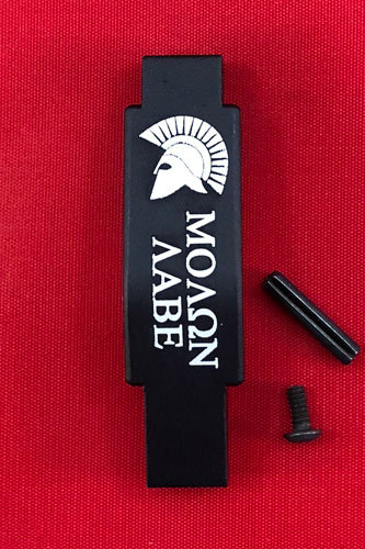 .223/5.56 Engraved Winter Trigger Guard - Molon Labe