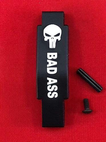.223/5.56 Engraved Winter Trigger Guard - Bad Ass Skull