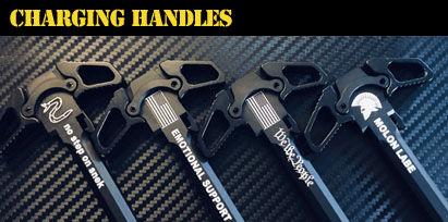 Engraved AR-15 Charging Handles