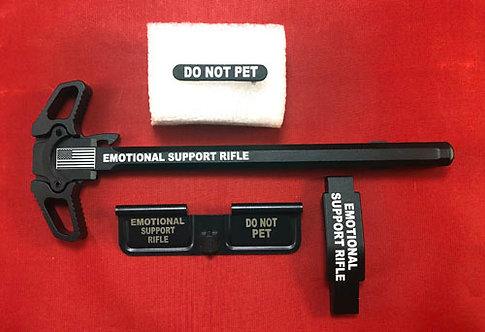 AR15 Engraved Ambidextrous Handle Kit - Emotional Support Rifle
