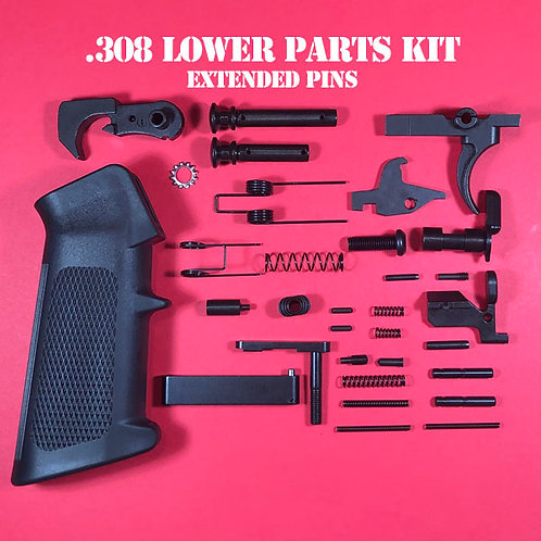 Enhanced .308 Lower Parts Kit Complete With Extended Takedown Pins