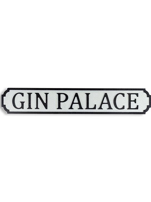 "Antiqued Wooden ""Gin Palace"" Road Sign"