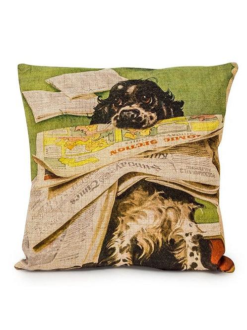 Helpful Dog Linen Cushion