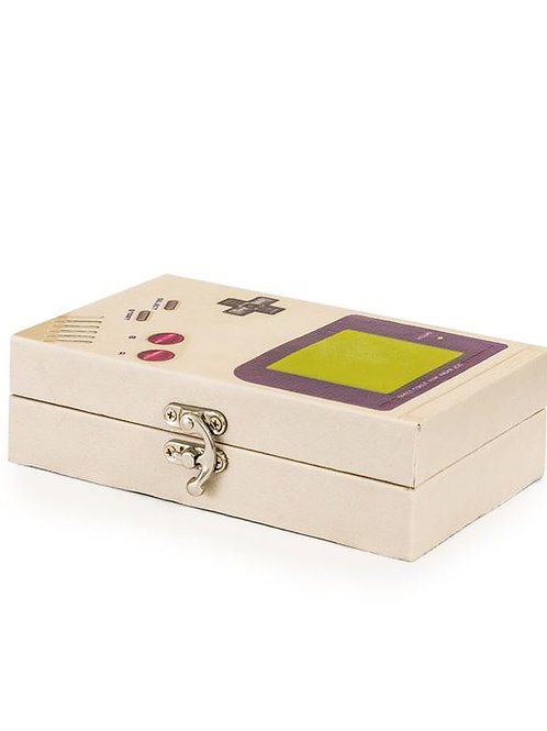 Grey Retro Handheld Games Console Storage Box