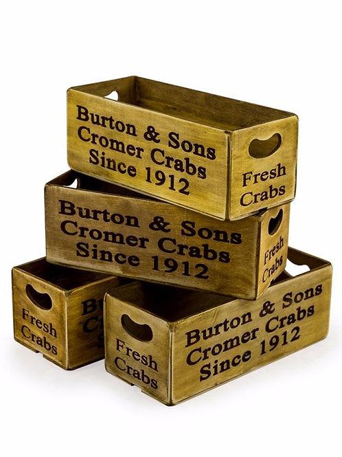 Set of 4 Cromer Crab Boxes