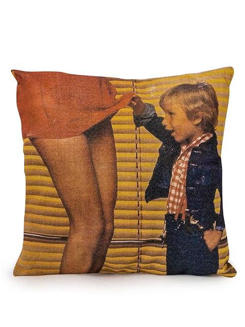 Curious Child Linen Cushion