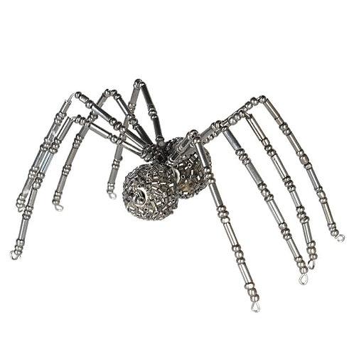 Black Beaded Spider Decoration