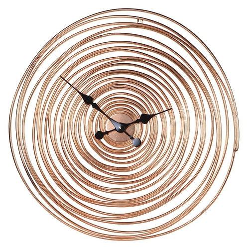 Copper Swirl Wire Wall Clock