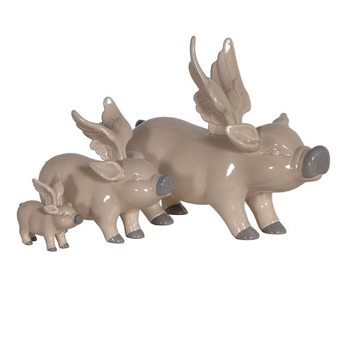 Set of 3 Pigs with Wings