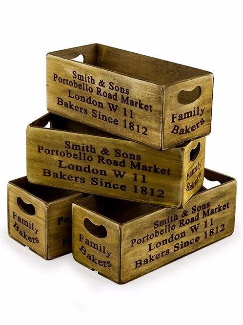 Set of 4 Portobello Road Market Boxes