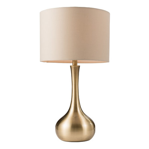 Piccadilly Table Lamp Brass & Taupe