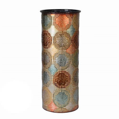 Multicoloured Rust Metal Vase