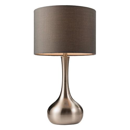 Piccadilly Table Lamp Nickel & Dark Grey