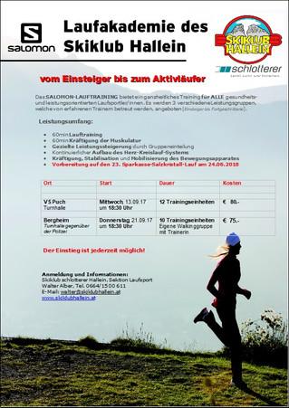 Running Academy startet in den Herbst