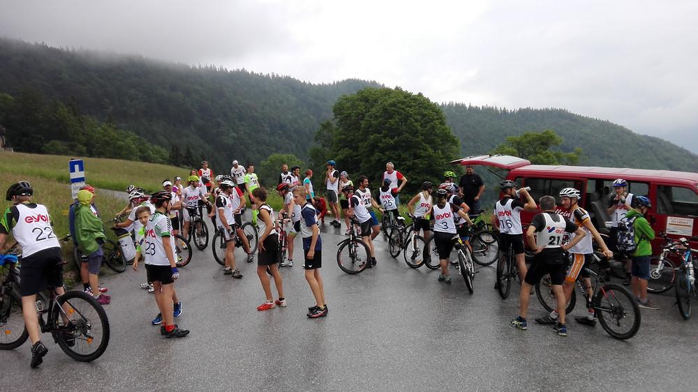 Die Radler vor dem Start