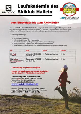Herbst-Running startet mit Schulbeginn