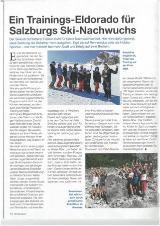 Bericht im KRONE-Winterjournal