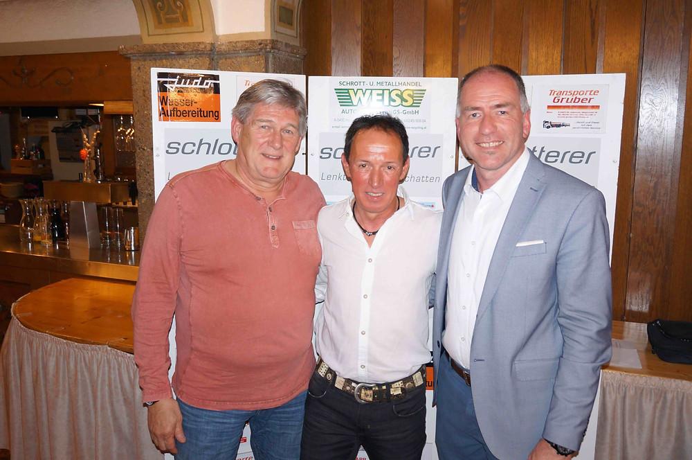 Helmut Klose, Walter Alber und Alexander Stangassinger
