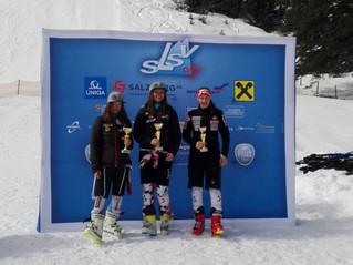 2. und 3. Platz beim Super-G auf der Resterhöhe beim Salzburger Landescup durch Sabrina Weiss und Ma