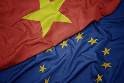 waving colorful flag of european union a