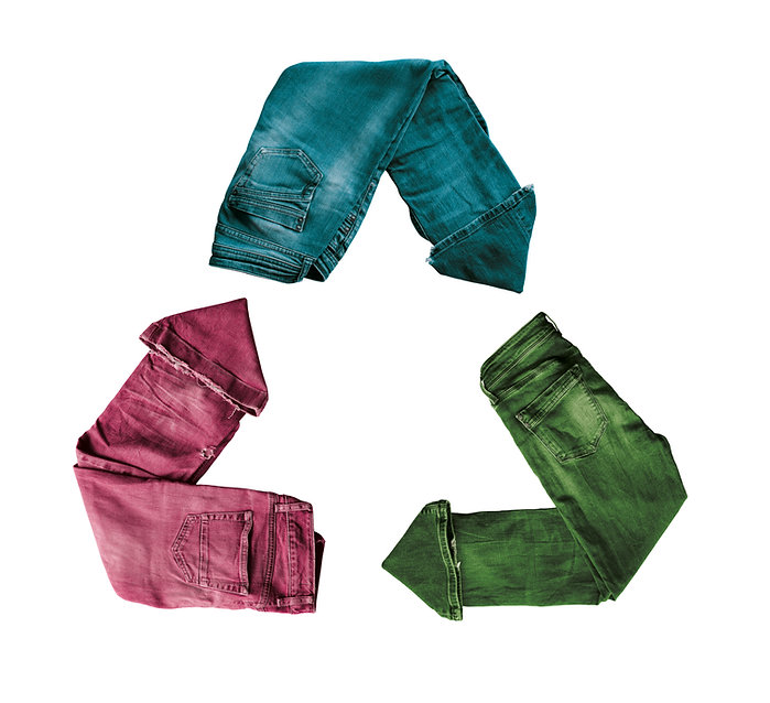 Recycling of clothes. Second-hand clothe