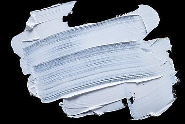 white grunge brush strokes paint on blac