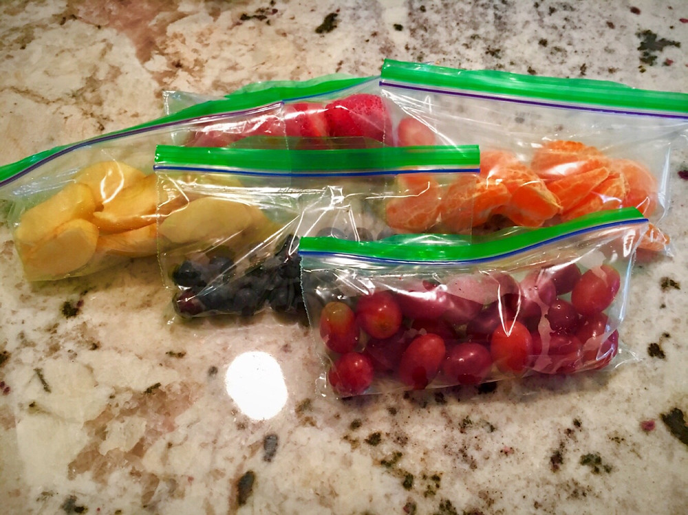 Snacks in the snack bags