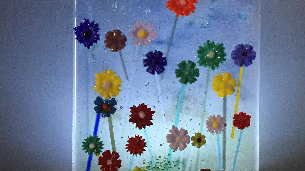 Glass Floral Panel 15cm x 20cm