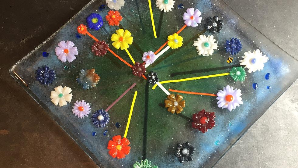 Fun Floral 20cm Square Dish