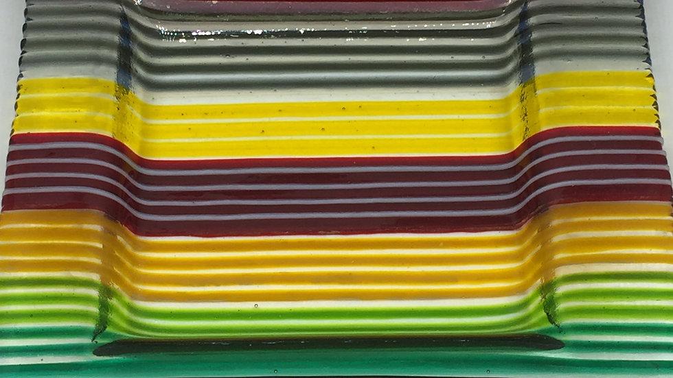 Stripcut 20cm Multicolour Square Dish