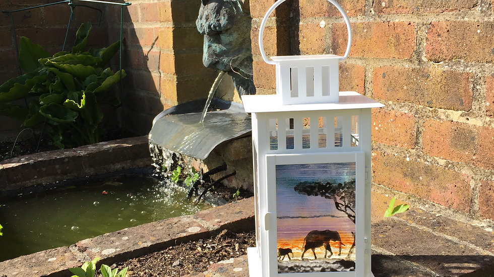 Elephant 2 panel lantern