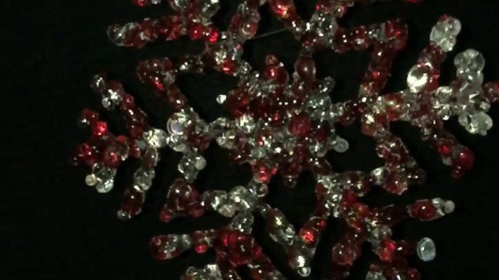 Fused Glass Snowflake Decoration
